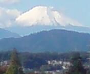 実家から富士山