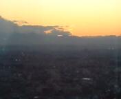 都庁から夕日