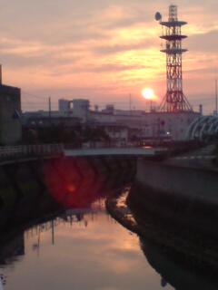 土渕海峡の夕日