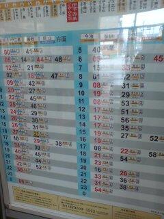 西条駅の時刻表
