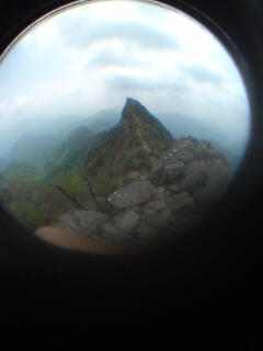あれが石鎚山山頂