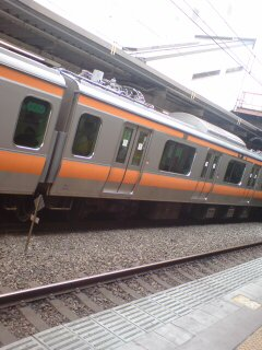 中央特快東京行きに乗車