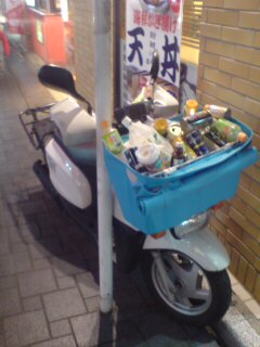 都会の放置バイク