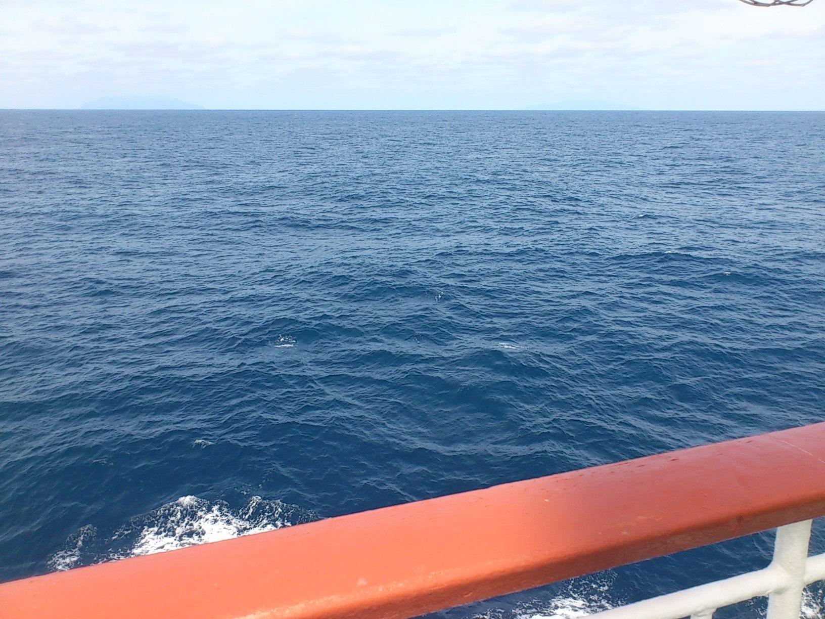 現在御蔵島沖です。