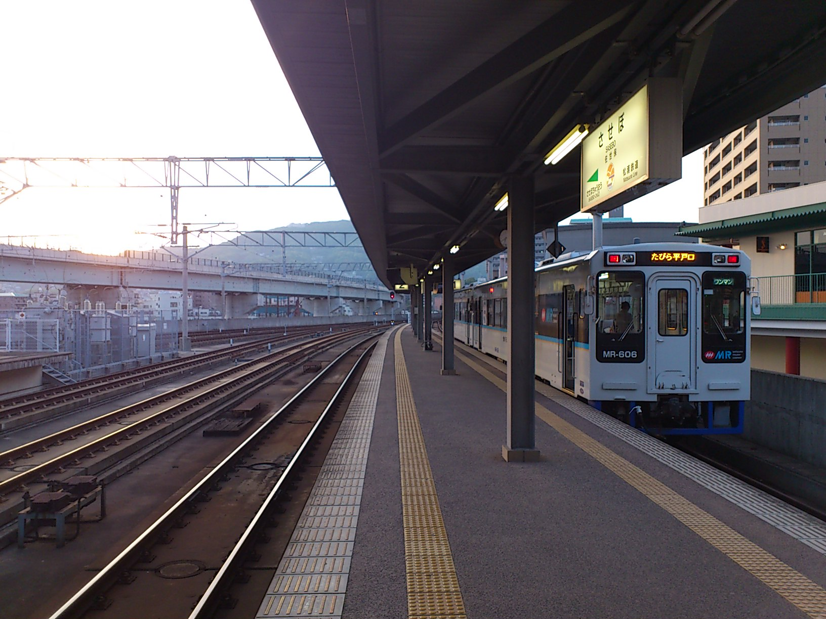 松浦鉄道でホテルに再び帰ります。