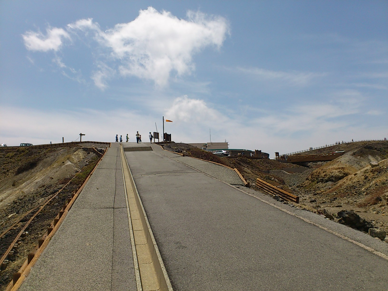阿蘇山山頂付近